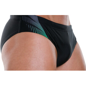 speedo Placement 7cm Brief Men Black/USA Charcoal/Fake Green
